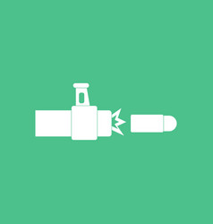 Icon rifle bullet shot vector