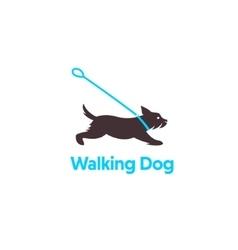 Logo design for dog walking vector