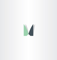 Logotype letter m icon m sign symbol element vector