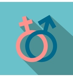 Male and female signs flat icon vector