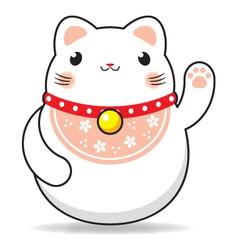 Maneki neko cat vector
