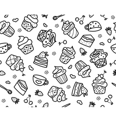 seamless sweets vector image