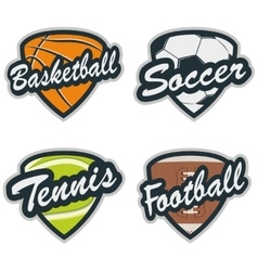 Set of Baseball Tennis Soccer Basketball and vector image