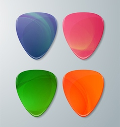 Set of Guitar Picks vector image