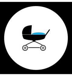 simple black stroller for baby cradle icon eps10 vector image vector image