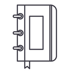 sketchbooknotebook line icon sign vector image vector image