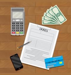 Taxation transaction concept vector