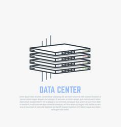 Thin servers flat vector