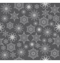 Snowflake background silver vector