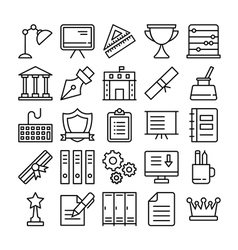 Education icons 3 vector
