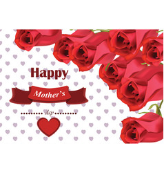 realistic red roses bouquet beautiful flowers vector image