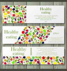 Healthy life style banners vector