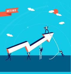 Business marketing teamwork success vector