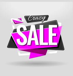 Sale geometric banner vector