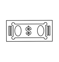 isolated green money bill vector image