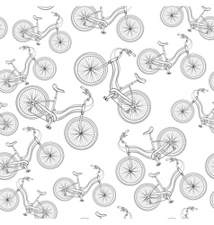 Bicycles seamless pattern vector