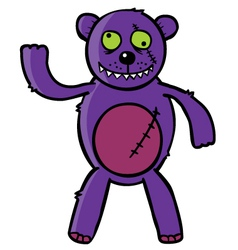 Bad teddy bear vector