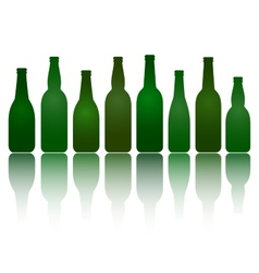 Isolated green beer bottles vector