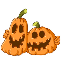 hugging pumpkins vector image