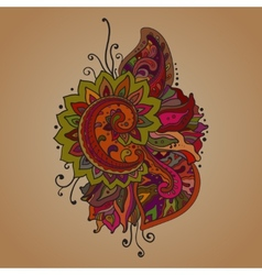 Traditional oriental floral ornament with a vector
