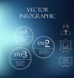 Subtle elements of infographics thin style on blur vector