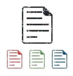 Document grunge icon set vector