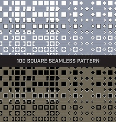 100 Square Seamless Pattern Set vector image