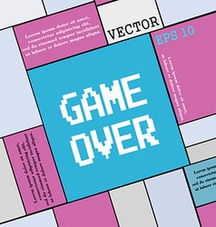Game over concept icon sign modern flat style for vector
