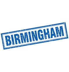 Birmingham blue square grunge stamp on white vector