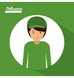 Deliverer profession design vector