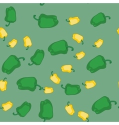 Yellow and green pepper seamless texture 607 vector image
