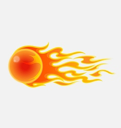 Abstract fireball on white background vector image