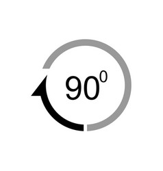 Angle 90 degrees icon vector