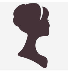 Beautiful woman head silhouette with stylish vector image vector image