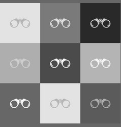 binocular sign grayscale vector image vector image