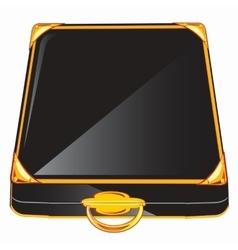 Black case vector image vector image