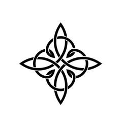 Celtic knots elegant cross weaven tattoo template vector image vector image