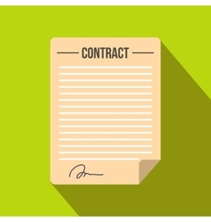 Contract icon in flat style vector