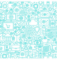 cryptocurrency white line seamless pattern vector image