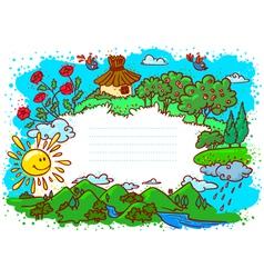 cute summer frame vector image vector image