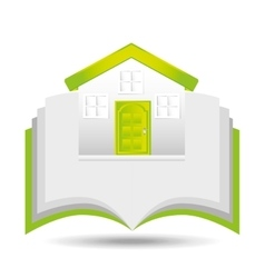 eco book environment house graphic vector image