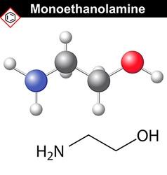 Ethanolamine molecule vector