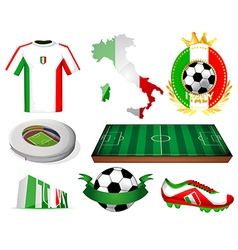 Italy soccer vector image vector image