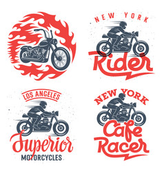 Motorcycle prints set 001 vector