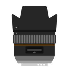 Photo optic lenses icon vector image vector image