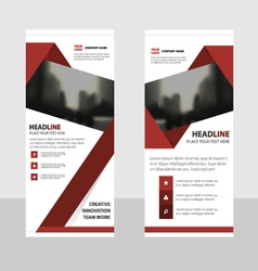 Red business roll up banner flat design template vector