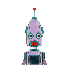 Robot cartoon icon vector