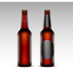 Set of Brown Bottles Red Beer with without labels vector image vector image
