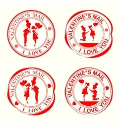 Set print to valentine s day vector