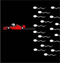 Speed spermatozoon vector image vector image